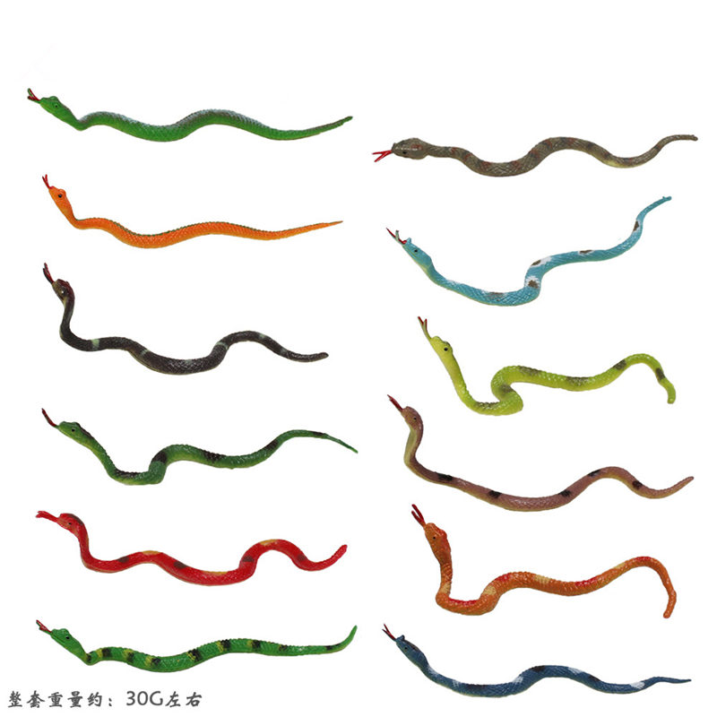 Toys Animals-Models Figures Snakes Children-Collection Plastic Cute for 12PCS Decorate