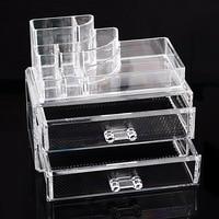 New 1Set Cosmetic Organizer Makeup Display Rack Box Jewelry Drawer Storage Holder
