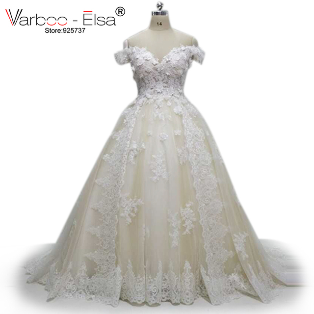 white wedding dress plus size Wedding Dresses Lace Appliques arab ...