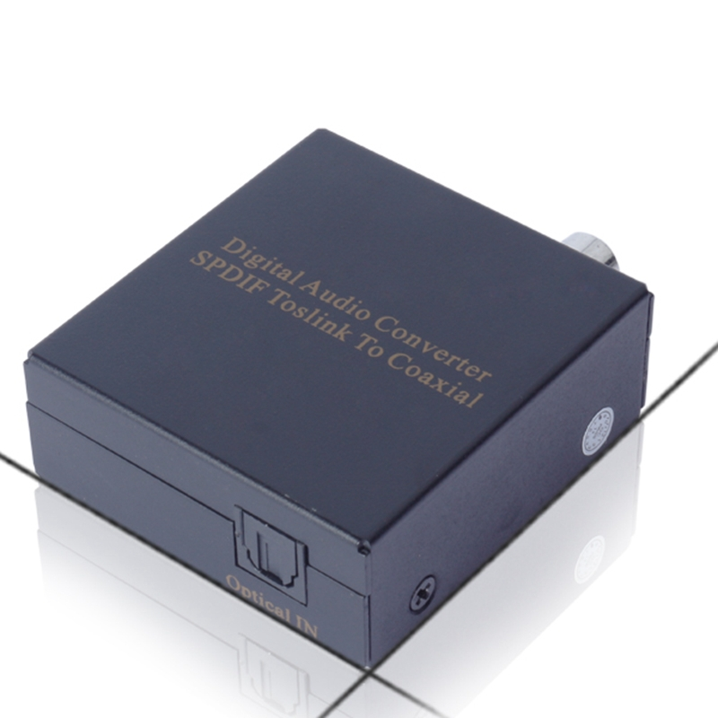 New Digital Audio SPDIF Toslink To Coaxial Optical Digital Converter Audio Converter Adapter With Retail Package