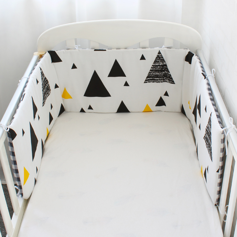 Nordic Design Baby Bed Bumper Thicken Cartoon Crib Around Cushion For Newborns Cot Protector Pillows Baby Room Decor 1Pcs