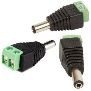 Image 4 - Grande venda 100 PCS DC Conector CCTV Cabo do Adaptador de Plugue macho Câmera de Vídeo Balun UTP Conector 5.5x2.1mm Frete grátis!!!