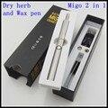 Migo 2 en 1 mini cera y hierba vaporizador pluma de cigarrillos electrónicos kit de hierbas secas atomizador vapor y cigarrillo e cig batería