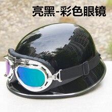 Motocicleta medio Casco Alemán Capacete Cascos de Moto cascos de Moto Dirt Bike Mens Gafas De motocicleta