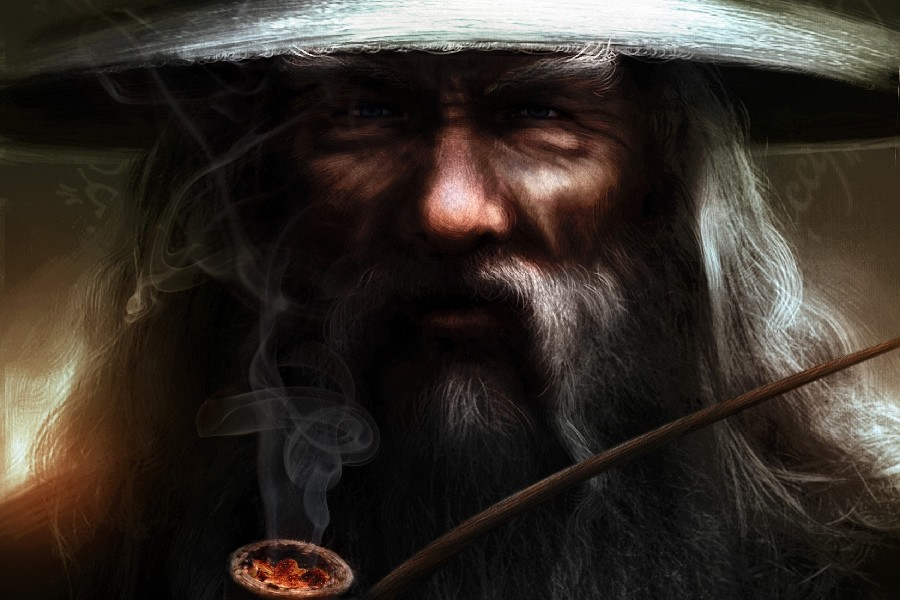 Diy Frame Wizard Lotr Lord Of The Rings Movie Gandalf Smoking Poster