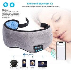 Image 2 - JINSERTA 2020 kablosuz Stereo Bluetooth kulaklık uyku göz maskesi yumuşak kulaklık telefon kafa uyku müzik mikrofonlu kulaklık