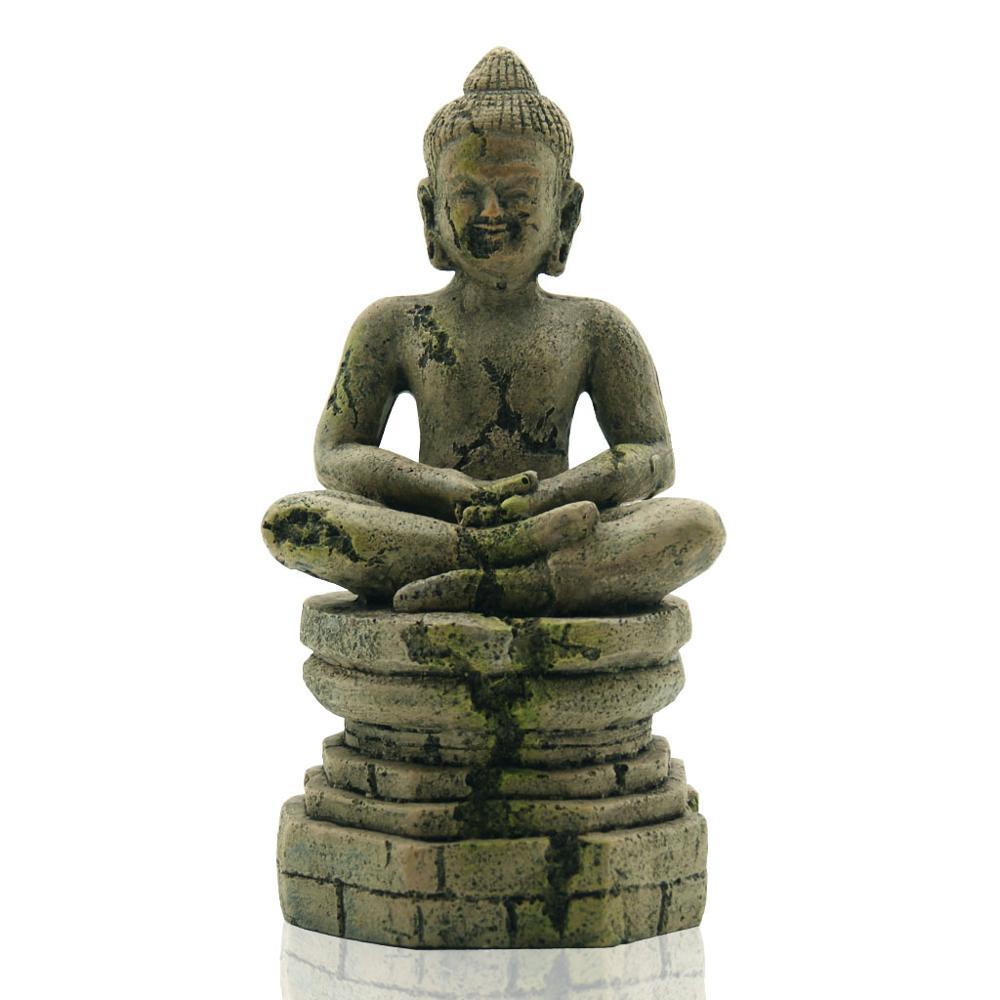 Aquarium Landscape Decorations Buddha Statue Sitting Buddha Statue Fish Tank Ornamental Landscape Crafts