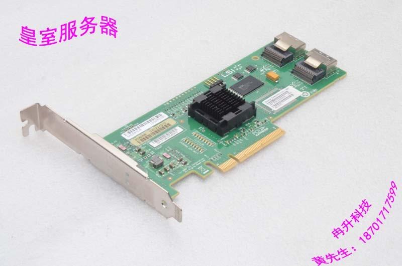 LSI SAS 3081E-R HBA 1068E B3 LSI00182 mini SAS 8 array card sas festplatte 300gb15ksas6gbpslff f617n