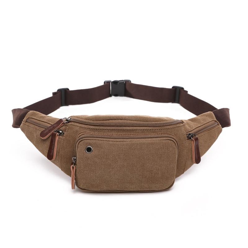 B28 New Multi-function Canvas Waist Bag Men Fanny Pack Man Out Door Money Belt Bag Men Waist Pack Pochetes Homem Bolso Cintura