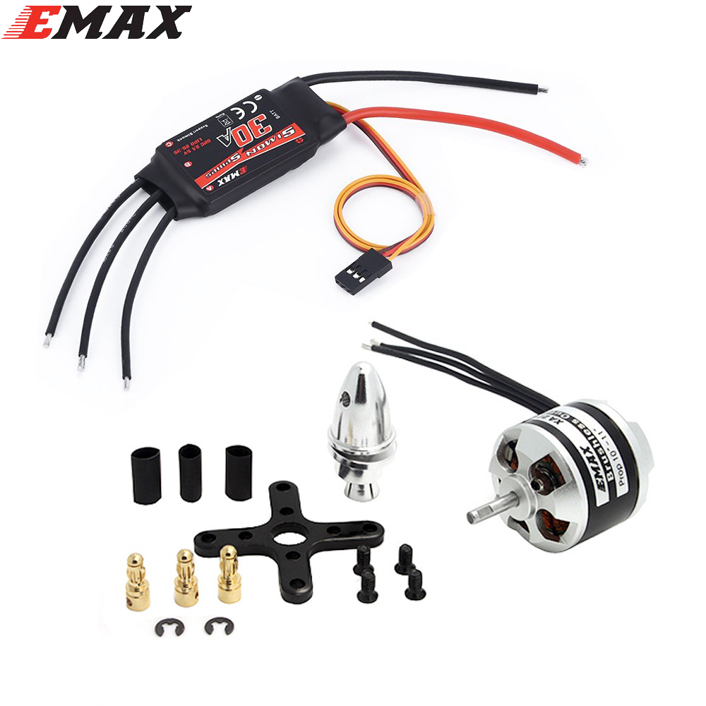 Original EMAX XA2212 820KV 980KV 1400KV Motor With Simonk 30A ESC Set For RC Model for  F450 F550 RC Quadcopter 4x emax mt2213 935kv 2212 brushless motor for dji f450 x525 quadcopter multirotor