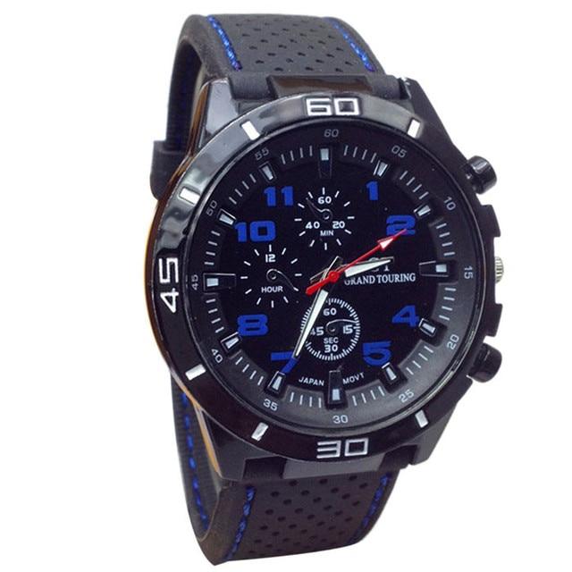 Men Clock Watches Saat Top Luxury Brand Strap Analog Display Date Men's Quartz W