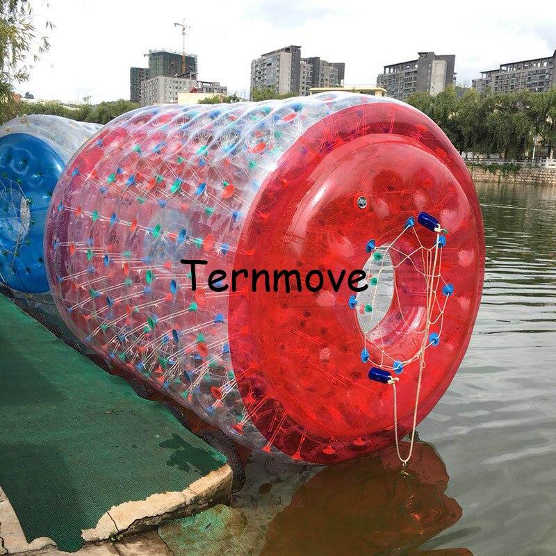 Offre spéciale roues gonflables rouges de l'eau, Tube de boule de marche de l'eau à vendre boule roulante de marche de rouleau d'eau