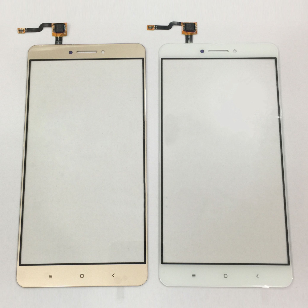 Black White Gold for Xiaomi MAX Front LCD glass Touch Screen Panel Digitizer Replacement Spare Parts