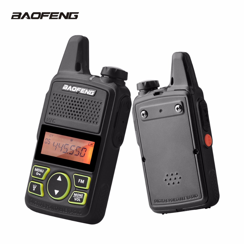 Baofeng T1 Mini Talkie Walkie BF-T1 Portable Ham Radio Station UHF 400-470 mhz 20CH FM PTT BF T1 communicateur de poche Radios