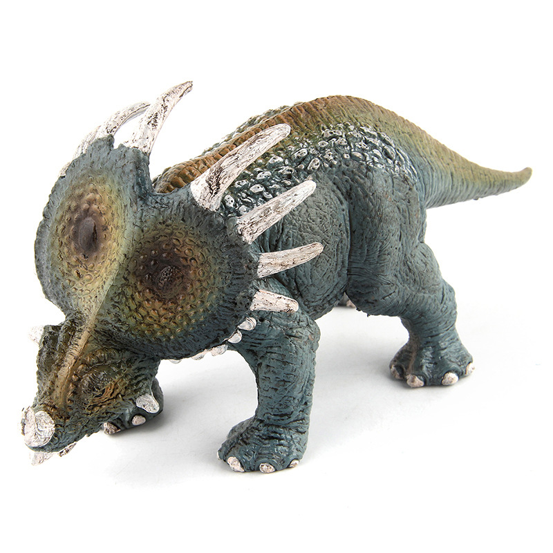 16x7cm Big Size Jurassic Styracosaurus Model Toy for Boy Gift Animal Educational Dinossauro Collectible Model for Childrens Gift