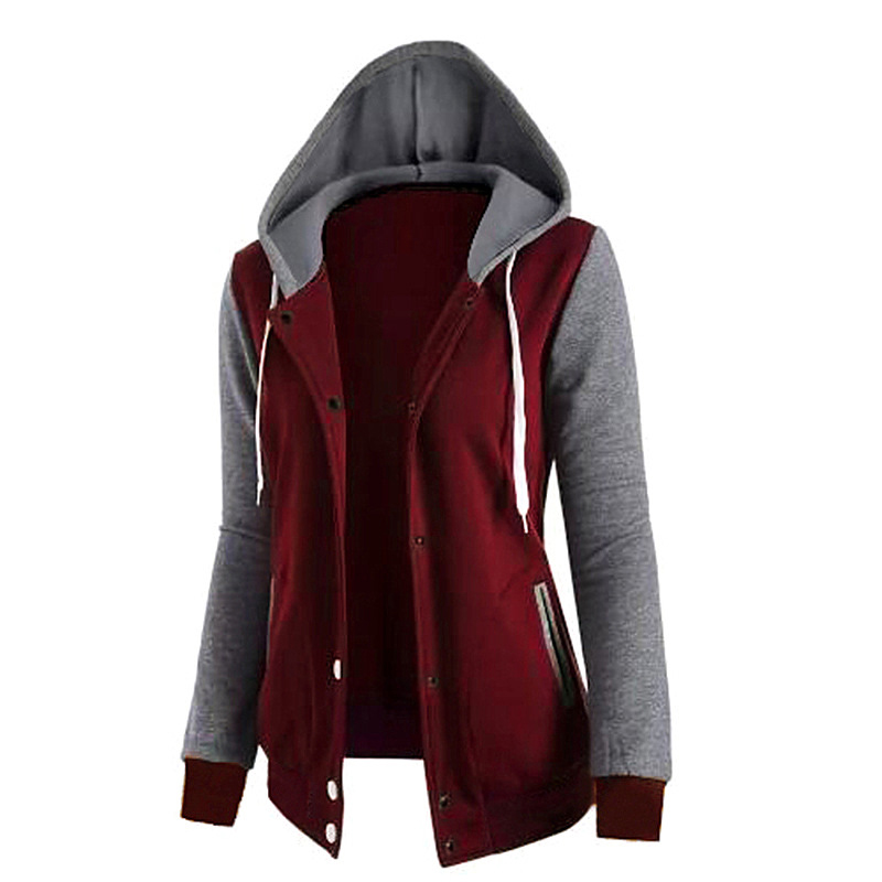 Jacket   Women Casual Hoodies Coat Cotton Sportswear Hooded   basic     Jackets   Coats 2019 Spring Hoodies Sweatshirt Female