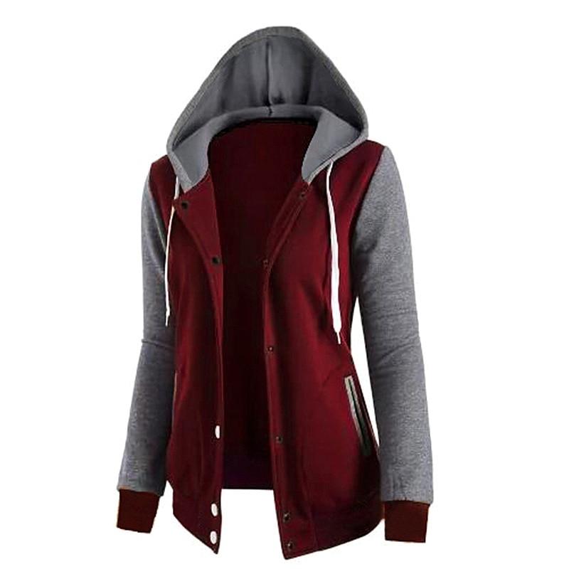 Jacket Women Casual Hoodies Coat Cotton Sportswear Hooded basic Jackets Coats 2019 Spring Hoodies Sweatshirt Female
