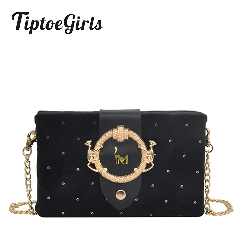 Bolso de terciopelo con caja pequeña Bolso de hombro a cuadros de diamantes de nueva moda Casual Bolso de mensajero de temperamento salvaje