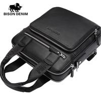 BISON DENIM 2016 New 100 Top Genuine Leather Shoulder Bag Men Messenger Bags Ror Men Commercial