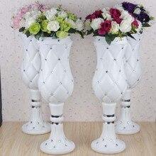4 шт. 75 см высокий Свадебный вазы пластиковый набор шнека. Кадка для цветов для свадебных украшений