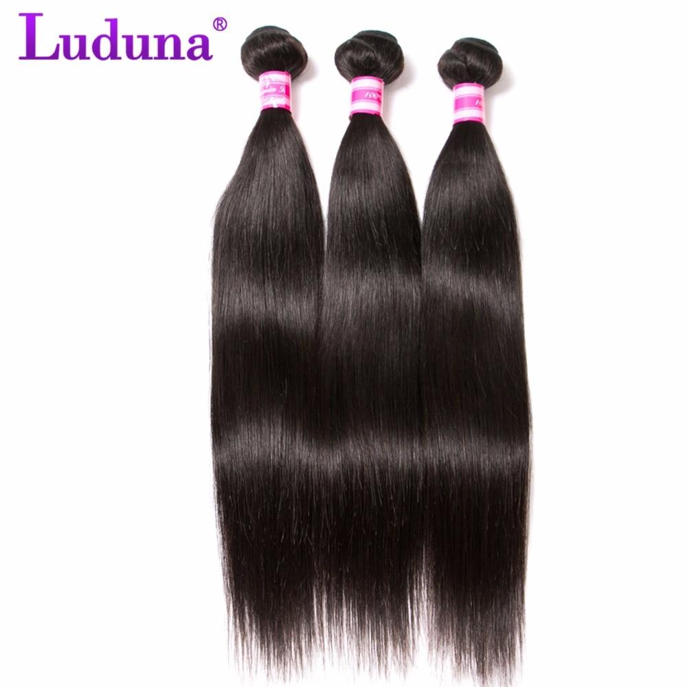 Luduna Brazilian Virgin font b Hair b font Straight 100 Unprocessed font b Human b font
