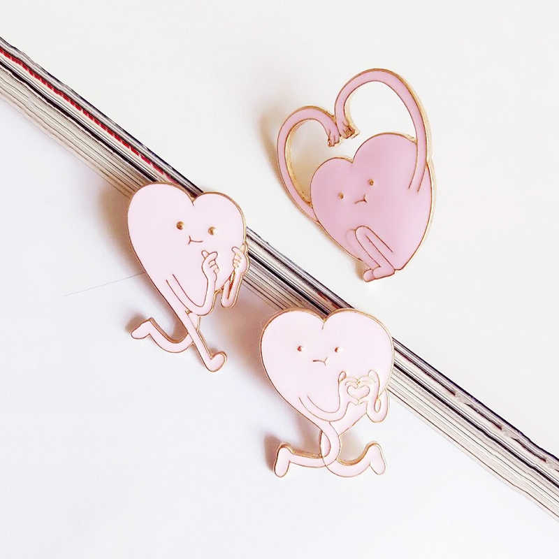 c24a3be3a3afd Hot 1PC Cartoon Cute Pink Heart Shaped Brooch Hat Skirt Clothing Fashion  Jewelry