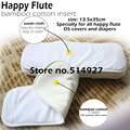 Хлопок, бамбук Пеленки Вставки с пребыванием сухой замша ткань, для всех HappyFlute Onesize Пеленки крышка, карман пеленки, 35 см х 13.5 см.