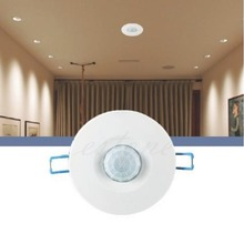 220V Recessed PIR Ceiling Occupancy Motion Sensor Detector Light Switch