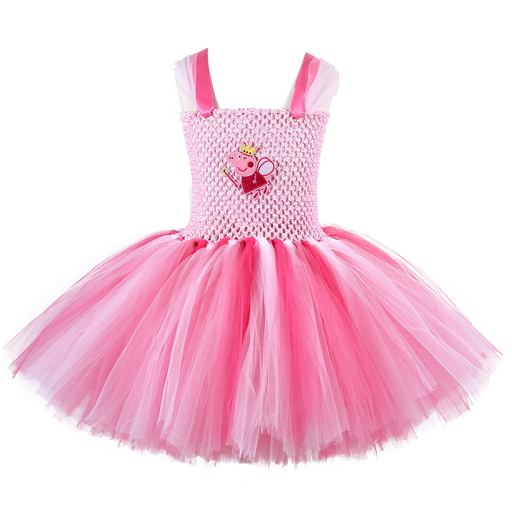 Baby Girl Birthday Party Tutu Dress Little Girls Pig Halloween Cosplay Costume Kids Princess Fluffy Tulle Dresses baby girls tutu dress summer party little princess kids girl costume kids tulle formal dresses for age 3 7 8 10 to 12 years