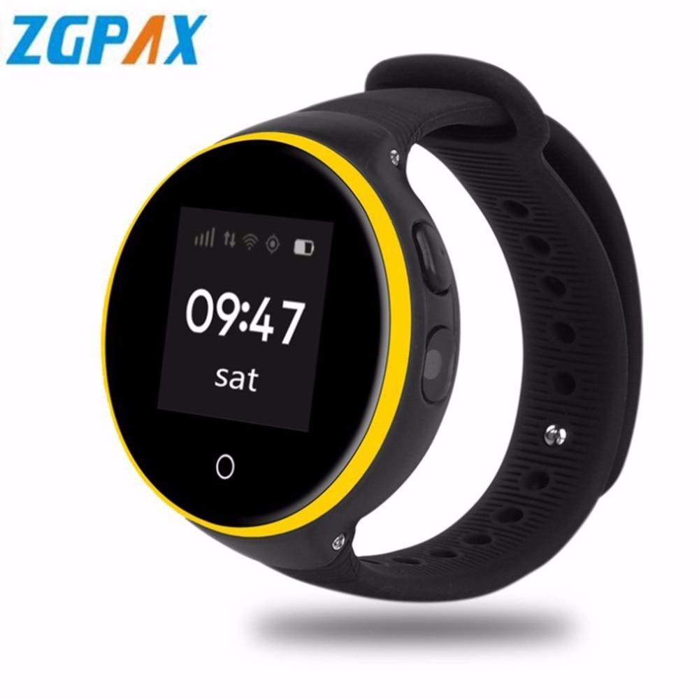 цена на ZGPAX Kids Smart Watch 1.22 IPS Screen 240*240 GPS SOS Smartwatch Support App Wifi SIM Card Children Wristwatch For Android IOS