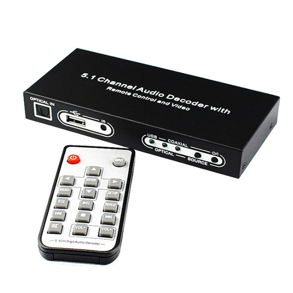 5.1 CH Digital Audio Decoder Converter DTS/AC3 Digital Audio Decoder with USB Media Function5.1 CH Digital Audio Decoder Converter DTS/AC3 Digital Audio Decoder with USB Media Function