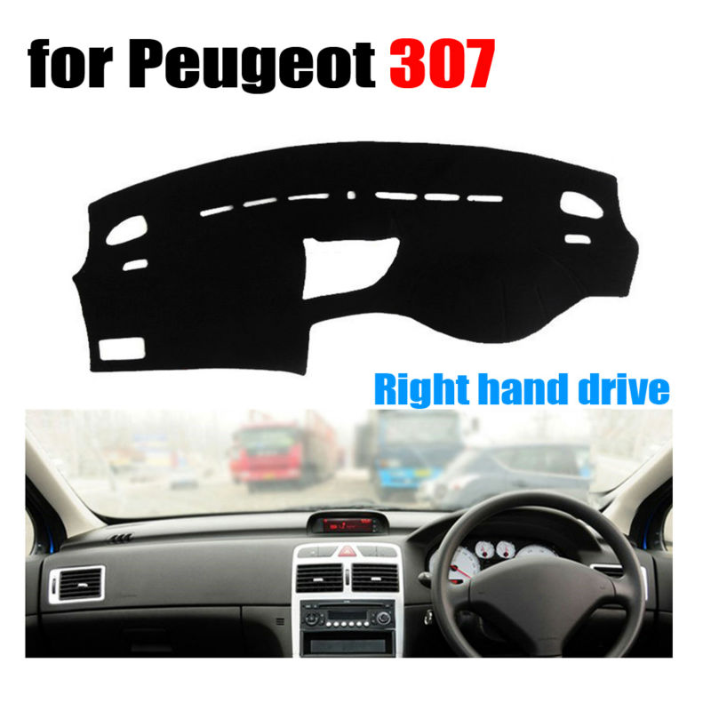 Car dashboard covers mat for Peugeot 307 all the years Right hand drive dashmat pad dash
