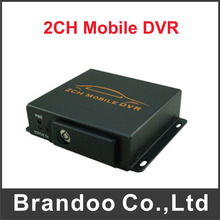 hot sale free shipping 2 channel CAR DVR for taxi and bus used model BD-302B
