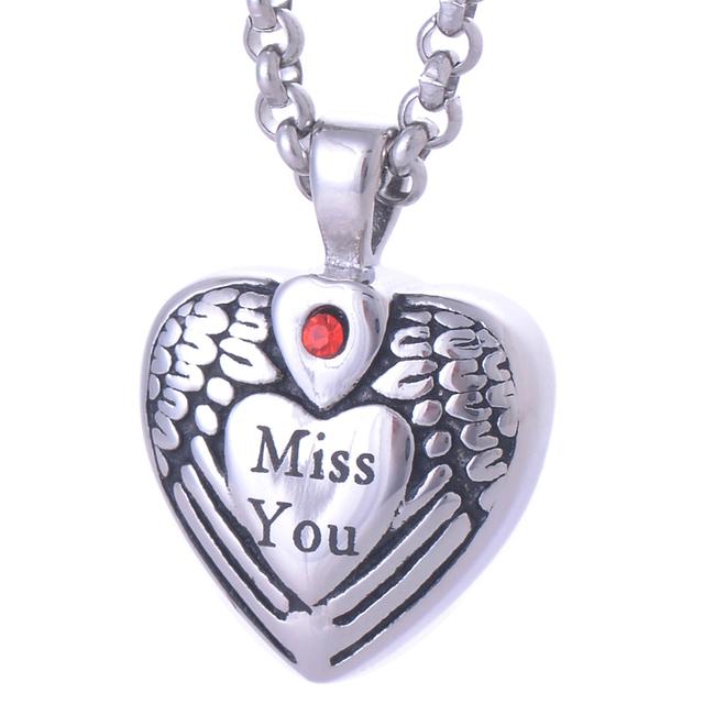 """""""Miss You"""" Memorial Pendant"""