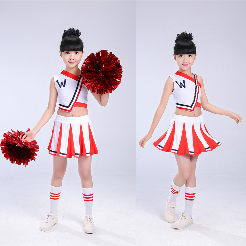 High School Cheerleader Costume Cheer Girls Uniform Party Outfit Tops with Skirt Kids Girl Cheerleader Uniform for Competition -in Ballroom from Novelty ...  sc 1 st  AliExpress.com & High School Cheerleader Costume Cheer Girls Uniform Party Outfit ...