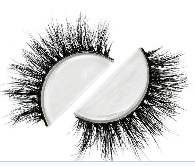 Envío gratis estilo moda de lujo 100% real mink strip lashes pestañas lilly miami lashes natural largo de visón suave y
