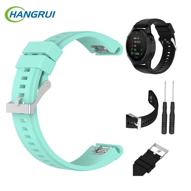 Watchband for Garmin Fenix 5X for Garmin Fenix3 HR Silicone straps for garmin quatix3/D2 watch band bracelet 26mm