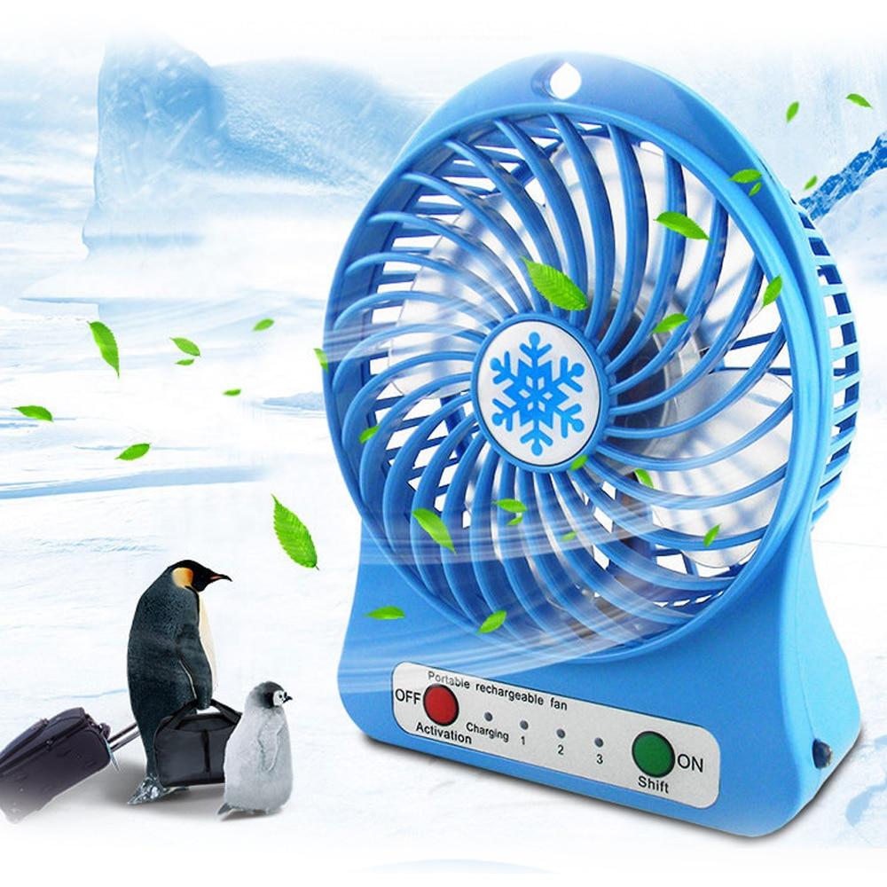 1 шт. портативный персональный мини-вентилятор Регулируемый 3 скорости USB перезаряжаемые вентиляторы для домашнего офиса Настольный охладитель вентилятор летний воздушный охладитель