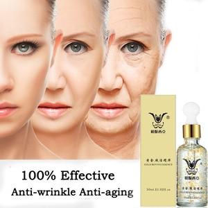 Image 1 - 24k Gold Serum Kollagen Essenz Anti Aging Falten Entfernen Gesicht Hautpflege Lifting Straffende Bleaching Reparatur Serum 50ml