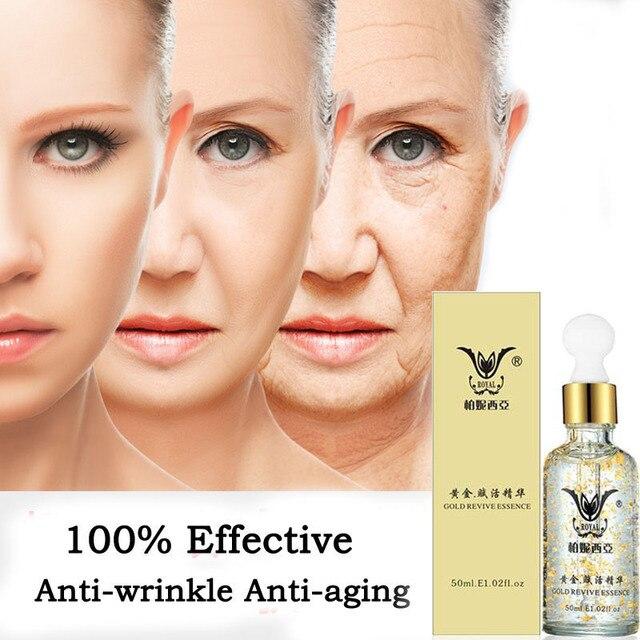 24k Gold Serum Kollagen Essenz Anti Aging Falten Entfernen Gesicht Hautpflege Lifting Straffende Bleaching Reparatur Serum 50ml