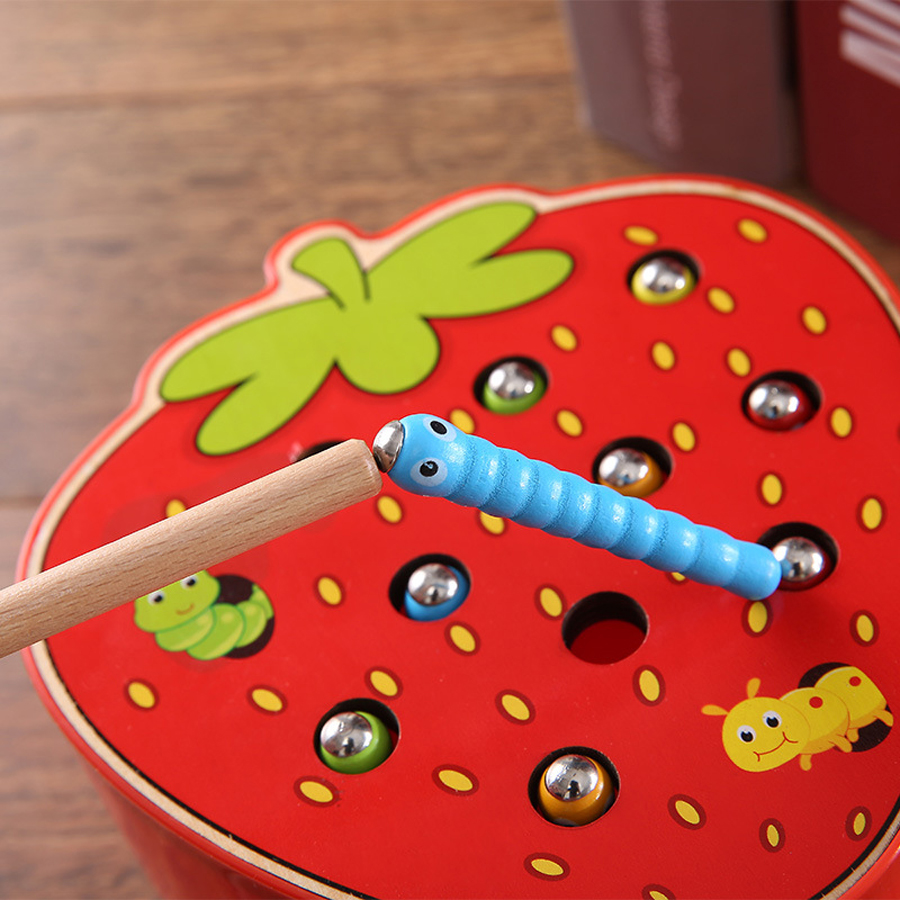 Caterpillar Eats The Apple Montessori Wooden Toys Baby Memory Training Matching Pair Game Math Early Educational Interactive Toy Игрушка