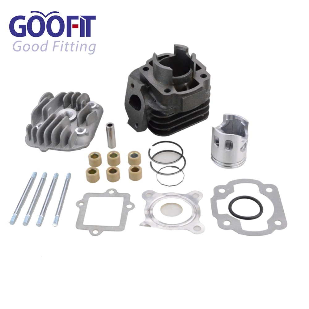GOOFIT Cylinder Kit with 10mm rings 39mm Piston for Yamaha Jog Zuma Vino 2 Stroke 50cc Scooter Minarelli 1E40QMB Engine P038-407