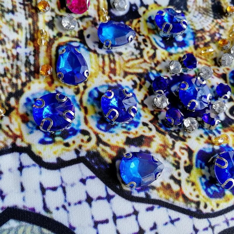 Lavoro Diamante Femminile Corona Qualità Del Di Rilievo Parola Pesante Della Un Vestito Stampa Color In 2019 Primavera Nuovo Allentato E Retro Photo Alta L'estate Pista YOwqPEP