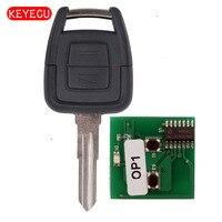 Keyecu Remoto Clave 2 Botón 433.92 MHz + Nuevo Mando A Distancia y Sin Cortar Transpondedor ID40 para Vauxhall Opel Astra Vectra Zafira hoja