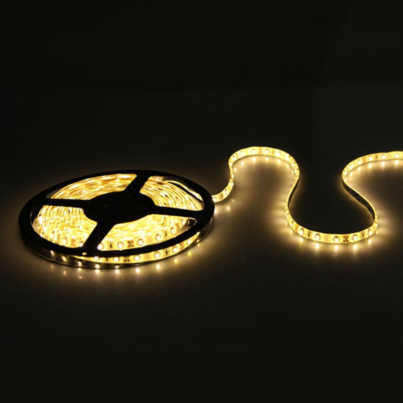 5M 3528 SMD 300 LED Strip Light 12V DC Tape Waterproof Flexible 60led/m Lamp Red Blue Pure White Warm White