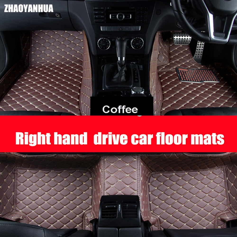 zhaoyanhua right hand drive car car floor mats special for audi a4 b5 b6 b7