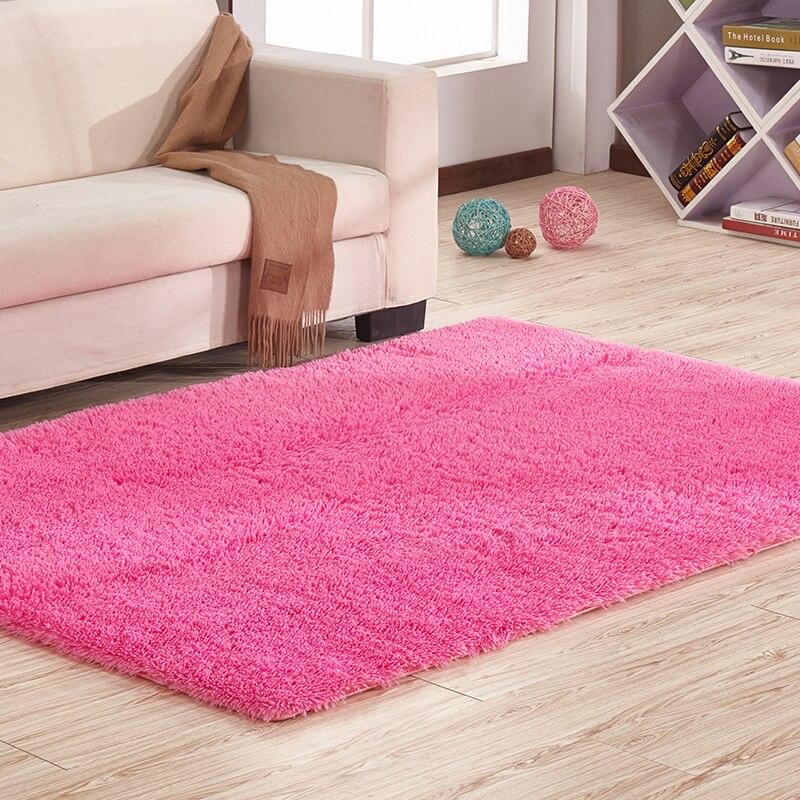 140X200CM Grid Coral Velvet Carpets For Living Room Bedroom Soft ...