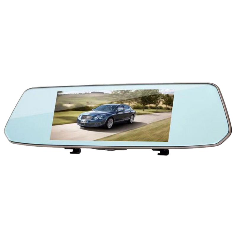 2018 Brand New Rear View Mirror Travel Recorder 7-Inch High-Definition Touch-Screen Track Offset Reverse Image Recorder