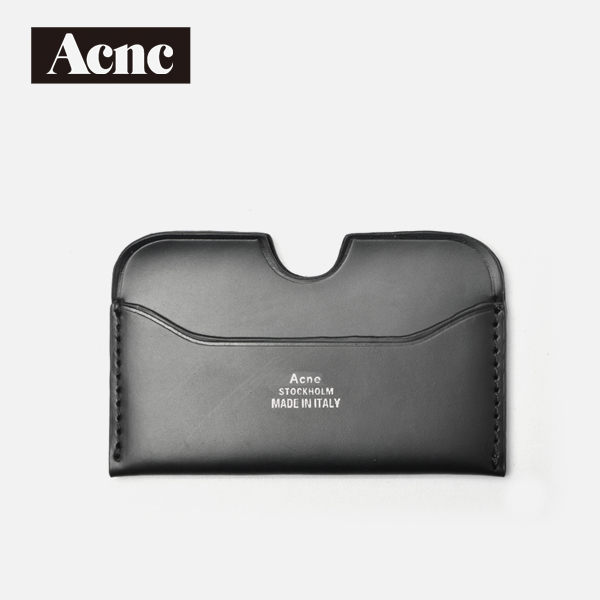 Acne fashion genuine leather unisex card case,real leather ID holders,leather credit card,free shipping new unisex big discount genuine leather name card purse id credit holders wallet bags clip free shipping