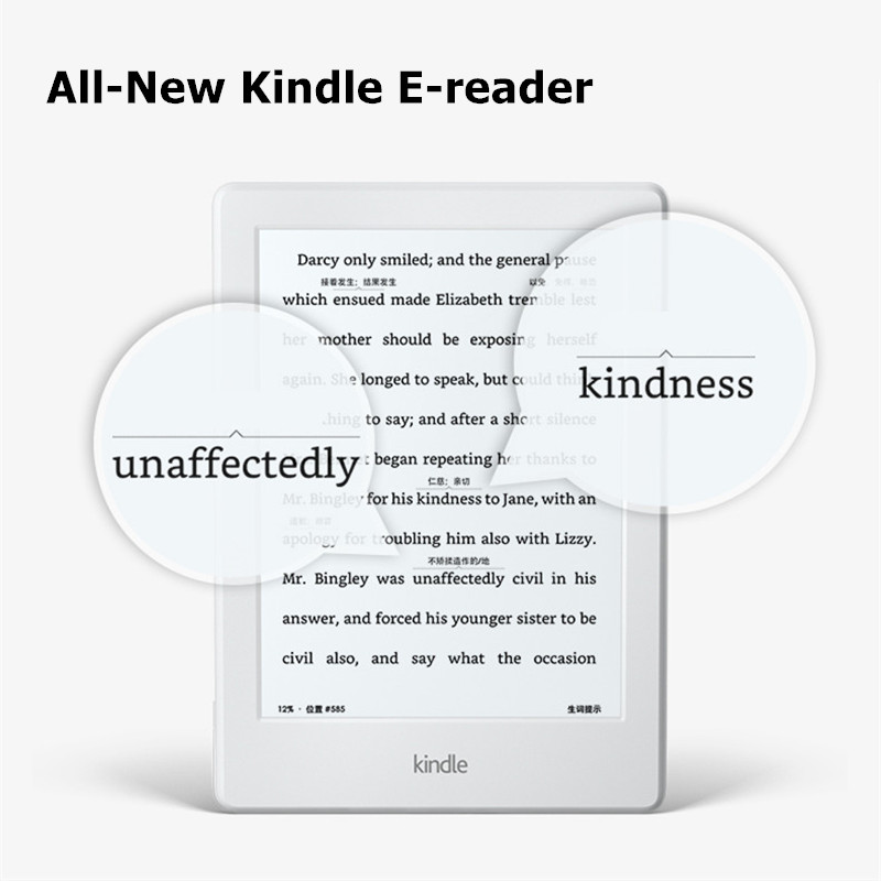 Kindle 8 blanc 2016 version écran tactile logiciel exclusif Kindle Wi-Fi 4 GB eBook e-ink écran 6 pouces lecteurs de livres électroniques - 2